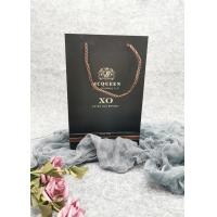 Buy cheap Commercial Strong Custom Printed Paper Wine Bags Luxury Style Customized Size from wholesalers