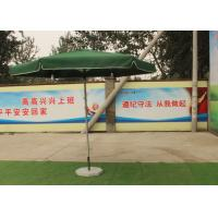 Buy cheap Green Large Square Umbrella With 50 Kg Marble Base , Square Steel Tube Frame from wholesalers