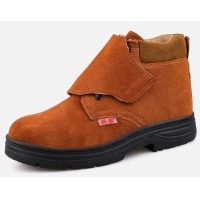 Buy cheap SGS Anti Puncture Cowhide SB Welding Work Safety Boots from wholesalers
