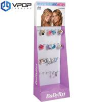 Buy cheap Aqueous Coating Cardboard Product Displays Colorful Environmental Friendly With Hooks from wholesalers