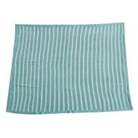 Buy cheap Soft Crochet Baby Knitted Blanket Blue Stripe 100% Polyester Material   from wholesalers