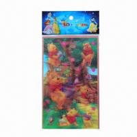 Buy cheap Lenticular sticker/3D hologram sticker, available in various sizes/colors, easy to apply and remove product