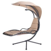 Buy cheap Swing Hanging Chaise Lounger Chair with EXTENDED Canopy Umbrella & Stand for Patio Backyard Outdoor Use from wholesalers