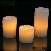 Quality 3 Set Flickering Electric Battery Operated LED Candles for Holiday / Wedding for sale