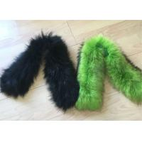Buy cheap Warm Smooth Genuine Raccoon Fur Collar Scarf Winter Windproof For Woman / Men from wholesalers