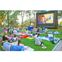 China Colorful Inflatable Movie Screen , Customized Size Pvc Fabric Projector Screen on sale