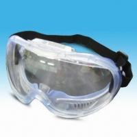 Buy cheap Safety Sports Goggle/Mask/Glass with Polycarbonate Lens, Black Color Nylon Strap and PVC Frame from wholesalers