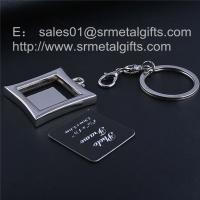 Buy cheap Personalized metal keychain with photo frame, picture locket key tags, from wholesalers