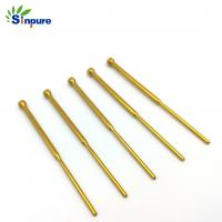 Buy cheap Gold Plated Brass Copper Tube Custom Cnc Brass Switching Test Probes For Spare Part from wholesalers
