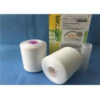 Buy cheap Pure White Twist 50s/2 Sewing Polyester Knitting Yarn With Plastic Tube from wholesalers