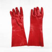 Buy cheap Hand Protection Oil Resistant Gloves , Red Color Long Sleeve Work Gloves from wholesalers