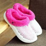 Buy cheap Unisex Plush Lining Winter Indoor Slippers , Women Mens Fleece Slippers from wholesalers