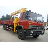 Buy cheap cheapest 10 wheel left hand drive dongfeng truck mounted crane for sale, 12-14T telescopic crane boom mounted on truck from wholesalers