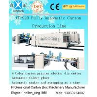 Buy cheap Fully Automatic Carton Box Printer Slotter Die Cutter Machine with Folder Gluer Inline from wholesalers