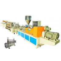 Buy cheap PVC Single Layer Plastic Roofing Tiles Extrusion Line , Single Screw Tile Making Machine from wholesalers