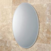 China Bevelled Edge 4mm Oval Large Round Mirrors Round For Bedroom , ISO9001 on sale