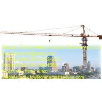 Buy cheap Commercial Construction Tower Crane 48m Lifting High Rise Building from wholesalers