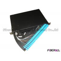 Buy cheap 24 Port SC Fiber Patch Panel , Fiber Optic Termination Panel Rotating Out Drawer Type from wholesalers