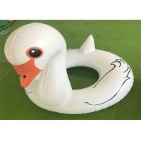 Buy cheap Inflatable floating water park adult pool swimming toys white swan swimming ring from wholesalers