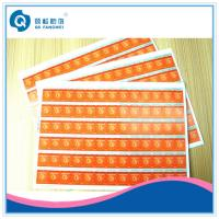 Buy cheap Self Adhesive Scratch Off Stickers , Matte Tamper Proof Security Labels from wholesalers