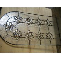 Buy cheap Brass Nickel Patina Decorative Bathroom Window Glass High Technical Innovation from wholesalers