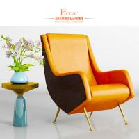 Buy cheap Customized Luxury Living Room Furniture / Office Waiting Room Chairs With Golden Leg from wholesalers