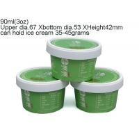 Buy cheap 90ml 3oz Paper ice cream cups from wholesalers