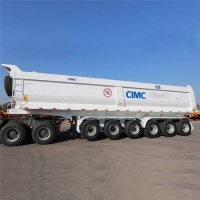 Buy cheap Mahler Type 6 Axle Rear End Dump CIMC Bulk Tipping Trailer from wholesalers