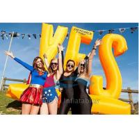 Buy cheap Outdoor Activity Inflatable Letter Decoration / Advertising Inflatables Wind Resistant from wholesalers