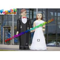 Buy cheap 210D Oxford Cloth Inflatable Figures Groom And Bride Toys For Wedding from wholesalers