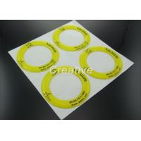 Buy cheap Non Yellow Polyurethane Resin Dome Stickers With White Vinyl Substrate from wholesalers