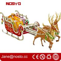 Buy cheap Christmas decoration reindeer sleigh with night edition giftware 3d puzzle from wholesalers
