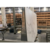 Buy cheap Marble Like White Calacatta 140×240cm Sintered Stone Slabs product