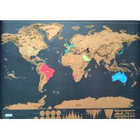 Buy cheap Discovery Map World New Personalized Scratch off World Map with Stickers, Traveler Gift from wholesalers