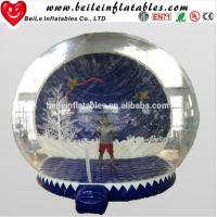 Buy cheap HOT Giant Inflatable Christmas Ornaments Ball Snow Globe for Outdoor Advertising from wholesalers