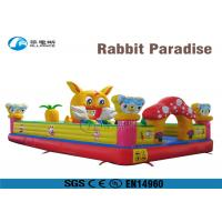 Buy cheap Rabbit Paradise Inflatable Bounce Castle Inflatable Boot Camp Obstacle Course from wholesalers