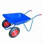 Buy cheap Twin-wheel Wheelbarrow with 100kg Loading Capacity from wholesalers