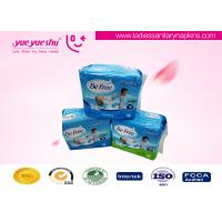 Buy cheap Ladies 270mm Ultra Thin Sanitary Napkin With Blue Core , Daytime Use Cotton Sanitary Pads product
