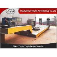 Buy cheap Hydraulic 2 / 3 / 4 Axles Detachable Gooseneck Trailer 50-100 Tons Payload from wholesalers