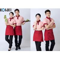 Buy cheap Stripe Shirt Restaurant Staff Uniforms Embroidered Workwear For Women from wholesalers
