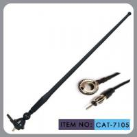 Buy cheap Black Am / Fm Rubber Car Antenna 50 Inch Cable Length With M5 Screw Cap Installation product