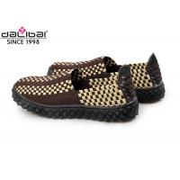 Buy cheap Anti-Slip Rubber Sole Elastic Weave Shoes Summer Footwear With Close Toe from wholesalers
