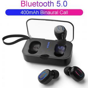China Bluetooth Wireless Earbuds Mini 5.0 TWS Ear-to-ear Wireless Mini Bluetooth Headset with Charging Bin on sale
