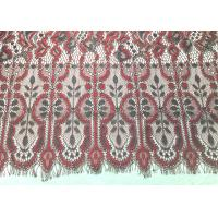 Buy cheap Machine knitted Jacquard  Eyelash Lace Trim 150cm / 60 Wide Embroidery Wedding Lace Trim from wholesalers