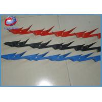 Buy cheap Custom High Tensile Barbed Wire Wall Security Spikes Powder Coated Red / Blue from wholesalers
