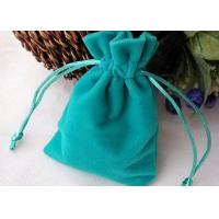Buy cheap Teal Attractive Velvet Gift Bags Color And Size Custom Prompt Delivery from wholesalers