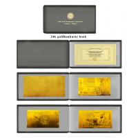 Buy cheap Album polymer 24Karat gold foil banknote book set with leather case from wholesalers
