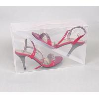 Buy cheap best quality plastic clear shoe boxes PVC material  wholesale in szie 30*18*10cm from wholesalers