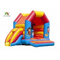Buy cheap Outdoor Pirate Cartoon Printing Inflatable Jumper Castle With Roof Quadruple Stitching from wholesalers