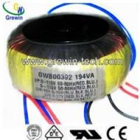 Buy cheap Toroidal Transformer with UL, Approval from wholesalers